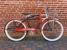 Vintage original balloon tire cruiser bike