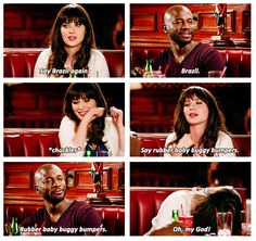 """""""Say rubber baby buggy bumpers."""" {gif} #newgirl"""