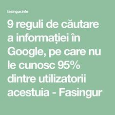 9 reguli de căutare a informației în Google, pe care nu le cunosc 95% dintre utilizatorii acestuia - Fasingur Good To Know, Did You Know, Sport Cuts, Internet, Calculator, Personal Development, Life Hacks, Life Quotes, Google