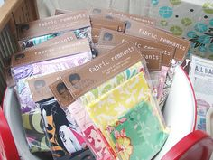 Fabric scraps packaged :)