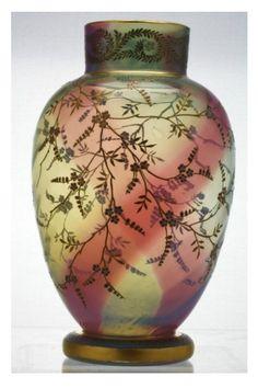 Johann Loetz Rainbow Vase c1890