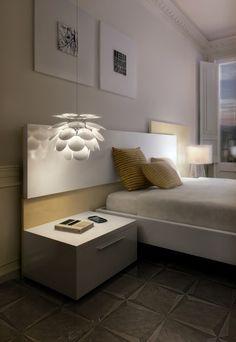 Discocó de Marset como lampara de mesita de noche para dormitorios