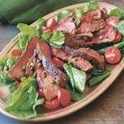 Grilled Steak and Arugula Salad with Mustard Caper Vinaigrette, Recipe from Cooking.com