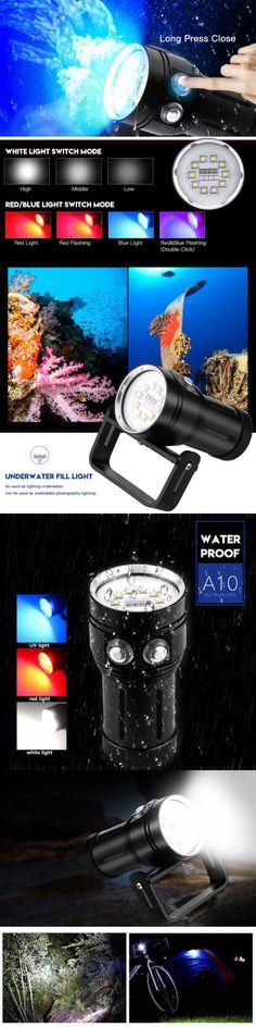 Lights 29575: Underwater 100M 10000Lm 4X Uv Xp-E 10X L2 Led Scuba Diving Flashlight Torch Lj -> BUY IT NOW ONLY: $84.59 on eBay!
