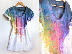 Splash painted t-shirt.