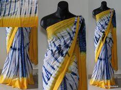 Printed bagru cotton saree