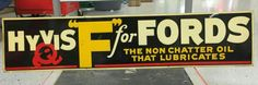 Hyvis Ford Motor Oil Sign