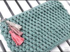 Tutorial donde te enseño a tejer un neceser en punto garbanzo a crochet. www.santapazienzia.com
