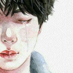Jin is so emotional baby Namjin, Kpop Drawings, Bts Chibi, Kpop Fanart, Bts Wallpaper, Drawing S, Cute Art, Art Inspo, Art Sketches