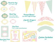 Pink Lemonade Party Printables!