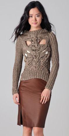 Nellie Partow Ayer Metallic Sweater thestylecure.com