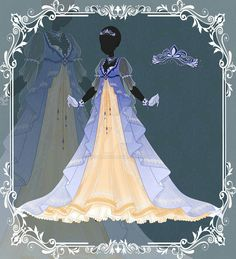 Dress Drawing, Drawing Clothes, Character Costumes, Character Outfits, Fashion Design Drawings, Fashion Sketches, Anime Girl Dress, Dress Sketches, Fantasy Dress