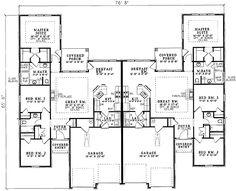 Architecture Design House Plans plan 59323nd: beautifully combined duplex | duplex plans, house