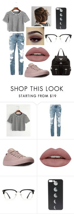 """Untitled #58"" by magali03garcia on Polyvore featuring Dolce&Gabbana, Converse, GlassesUSA and Prada"