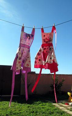Dos delantales ideales para niñas: Delantal y Gorro Cupcake Niña Delantal Infantil Vintage + Gorro