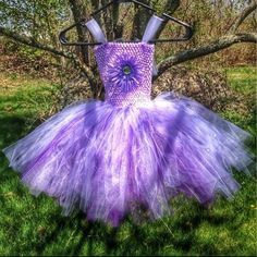 2T-4T tutu dress Handmade purple and lavender tutu dress. Show some sass!! Lots of twirling potential :) handmade Dresses