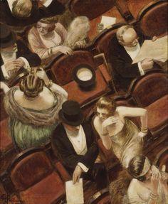 """""""En el Teatro"""" (entre 1900 y 1915) de Albert Guillaume (1873–1942)"""