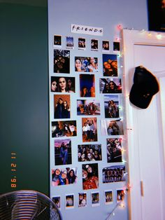 Easy Bedroom Decor Ideas for Teen Girls – Photo Wall Ideas photo collage with led lights Cute Room Ideas, Cute Room Decor, Teen Room Decor, College Room Decor, Teen Rooms, Dream Rooms, Dream Bedroom, My Room, Dorm Room