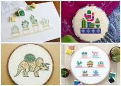10  Succulent Patterns that Don't Suck: If you love succulents and sewing then this post is for you! Here is a fun collection of succulent patterns for embroidery, sewing, and cross stitch that will help you get your succulent fill! Click through for the full list.| www.sewwhatalicia.com