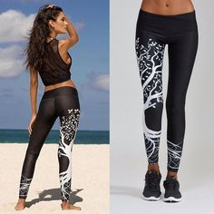 Women Printed Sports Yoga Workout Gym Fitness Exercise Athletic Pants Features: is made of high quality materials,durable enought for your daily wearing is very unique and breathable The pants has nice air permeability,which is comfortabl Legging Sport, Sports Leggings, Yoga Leggings, Workout Leggings, Workout Pants, Leggings Are Not Pants, Black Leggings, Black Pants, Womens Workout Outfits