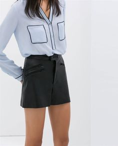 Pin for Later: 11 Zara Pieces Just Too Good to Pass Up  Zara Shorts With Zips ($60)