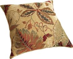 Brentwood 8245 Sagaponack Wheat Pillow, 18-Inch Brentwood (I bought 4 of these for the sofa and loveseat along with 2 complimentary red ones to layer on the sofa)
