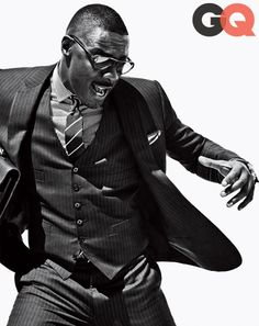 How to Transform a Three-Piece into a Triple Threat, Starring Idris Elba | GQ Magazine - October 2013