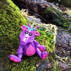 Polymer Clay Dragon 'Blossom' - Limited Edition Handmade Collectible by KatersAcres on Etsy
