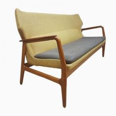 Wingback Lounge Sofa by Aksel Madsen for Bovenkamp, 1960s