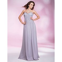 Chiffon Sheath/ Column Sweetheart Floor-length  Evening Dress inspired by Odette Yustman – US$ 149.99