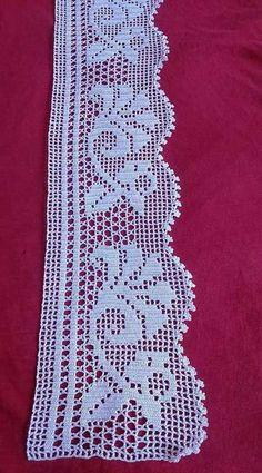 52 Ideas For Crochet Lace Heart Crafts - Diy Crafts Crochet Gloves Pattern, Crochet Edging Patterns, Crochet Lace Edging, Crochet Borders, Crochet Designs, Crochet Doilies, Crochet Stitches, Stitch Patterns, Crochet Flor