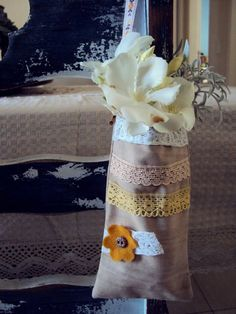saquinho para flores ,fiz para niver da filha