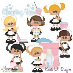 When I Grow Up-Little Maids Cutting Files-Includes Clipart