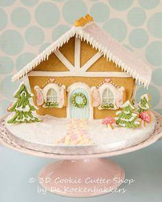 Gingerbread House Chalet Cookie Cutter Set door 3DCookieCutterShop
