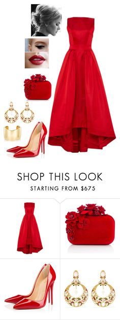 """""""Gala night"""" by nikke9doors ❤ liked on Polyvore featuring Katie Ermilio, Jimmy Choo, Christian Louboutin, Diego Percossi Papi and Jennifer Fisher"""