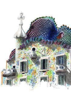 Artist's Impressions: Barcelona City Photo, Architecture, Artist, Barcelona, Arquitetura, Artists, Architecture Design