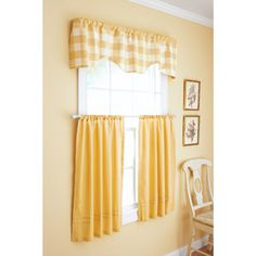 Better Homes and Gardens Checks and Solids Window Set...I got these in brown. :)