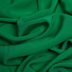 Kelly Green Silk 4-Ply Crepe