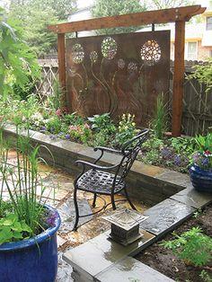 75 Easy Cheap Backyard Privacy Fence Design Ideas - Bailee News Diy Privacy Fence, Privacy Fence Designs, Privacy Walls, Backyard Privacy, Backyard Fences, Backyard Landscaping, Privacy Screens, Landscaping Ideas, Diy Fence
