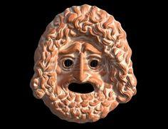 Máscara utilizada de los actores en la tragedia griega antigua. (Adriana Estrella)