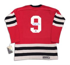 Bobby Hull Autographed Wool Chicago Blackhawks Jersey