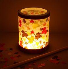 Make your own lantern autumn leaves DIY instructions for . Make your own lantern autumn leaves DIY instructions for . Diy For Kids, Crafts For Kids, Fall Leaf Garland, Metal Pumpkins, Autumn Crafts, Paper Lanterns, Diy Art, Fall Decor, Yule
