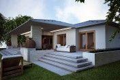 Projekt rodinného domu SKU je menším praktickým jednopodlažným projektom vhodným pre každého. Atypickou dispozíciou s priehľadom cez celý dom, štyrmi obytnými izbami, precíznou kombináciou tradičných a moderných prvkov a reprezentatívnym vstupom je ideálnym projektom pre každého, kto hľadá priestranný a praktický dom s dôrazom na detail. Outdoor Decor, House, Home Decor, Decoration Home, Home, Room Decor, Home Interior Design, Homes, Houses