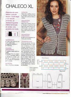 Crochet Tank, Crochet Cardigan, Crochet Shawl, Vest Pattern, Free Pattern, Crochet Clothes, Clothing Patterns, Crochet Patterns, Knitting