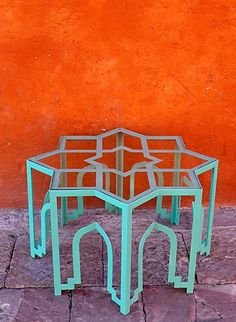 Moroccan style coffee table, for lounge or reading room.