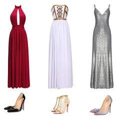 """""""Prom 2016 #15"""" by luvtae ❤ liked on Polyvore featuring Fame & Partners and Christian Louboutin"""