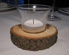 Five (5) Maple Centerpiece Candleholders