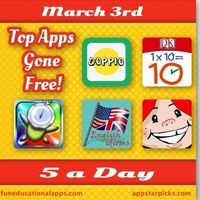 Free apps to start the week? For today's 5 a Day we have a great bedtime storybook app for the little ones with Time To Go To Bed; 2 math ap...