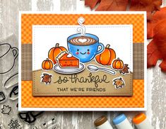 The Queens Scene - Cardmaking and Papercrafts Thanksgiving Greeting Cards, Fall Cards, Thanksgiving Ideas, Holiday Cards, Christmas Ideas, Christmas Cards, Halloween Lawn, Halloween Cards, Creative Gift Wrapping