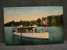 1927 Ripley Postcard Ravenswood White Lake Michigan P O Montague Boat People | eBay